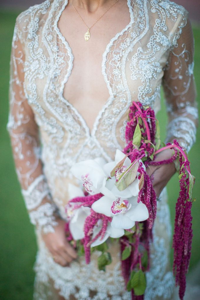 Fashion forward couple's destination wedding at The Montecito Country club in Santa Barbara, California by Kiel Rucker Photography - 042