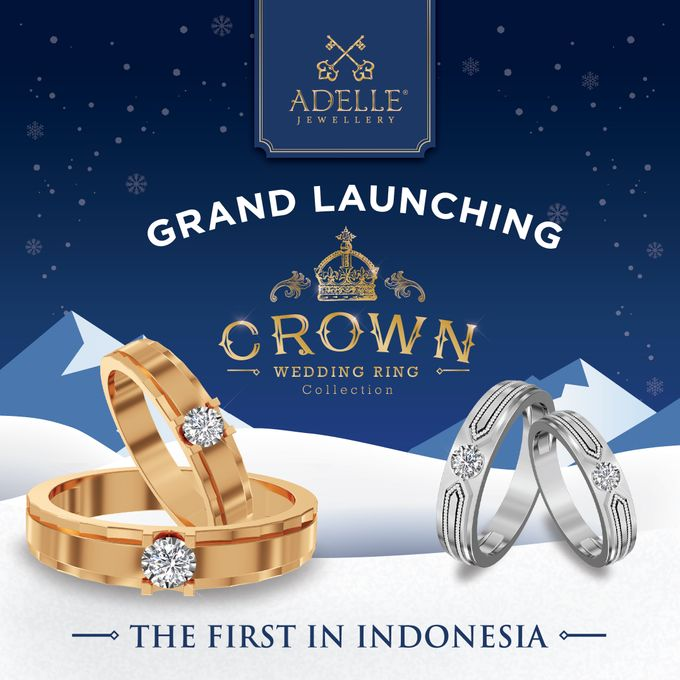 Crown Wedding Ring by Adelle Jewellery - 001