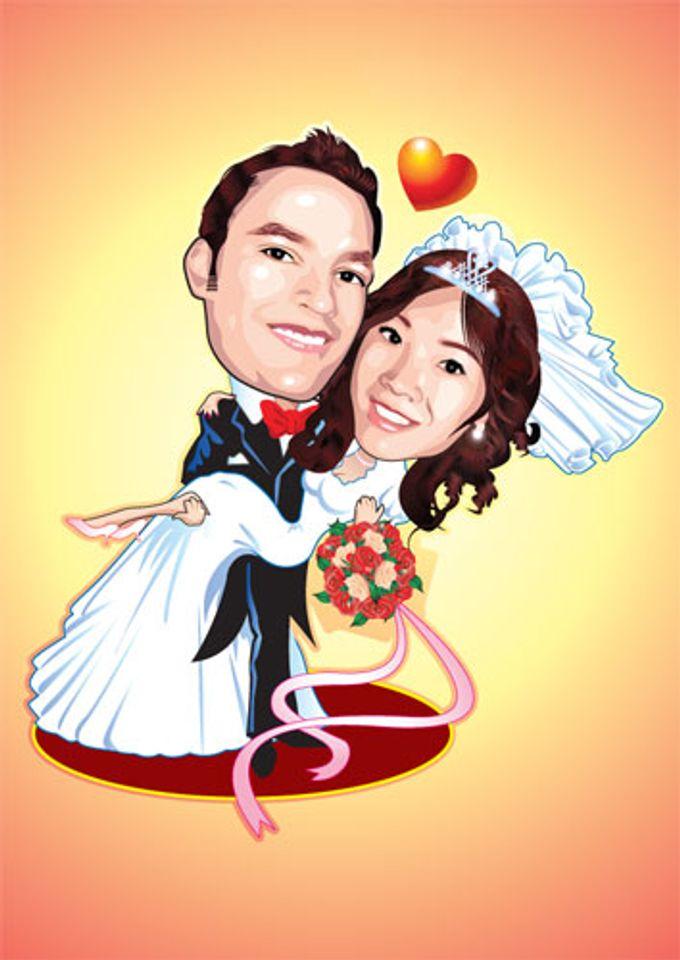 Wedding Caricature by littlebitmoar.com - 001