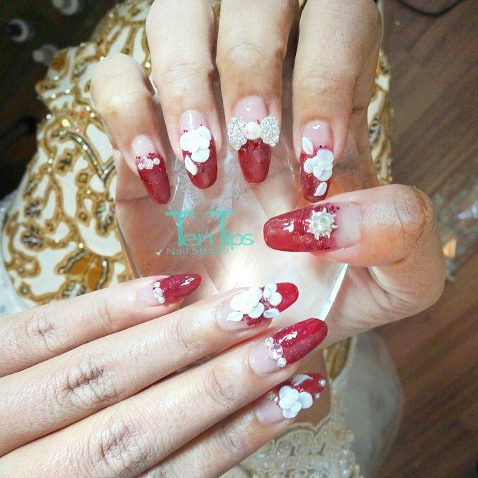Wedding Nails by Ten Tips Nail Studio - 002