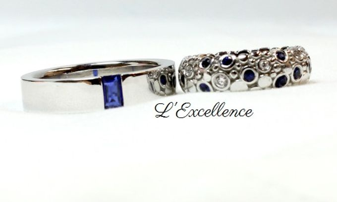 French Haute Couture Wedding Bands by L'Excellence Diamond - 002