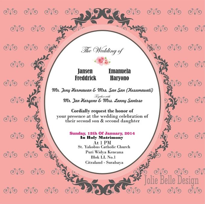 """Invitation & Gift Tag """"Thank You"""" by Jolie Belle - 002"""