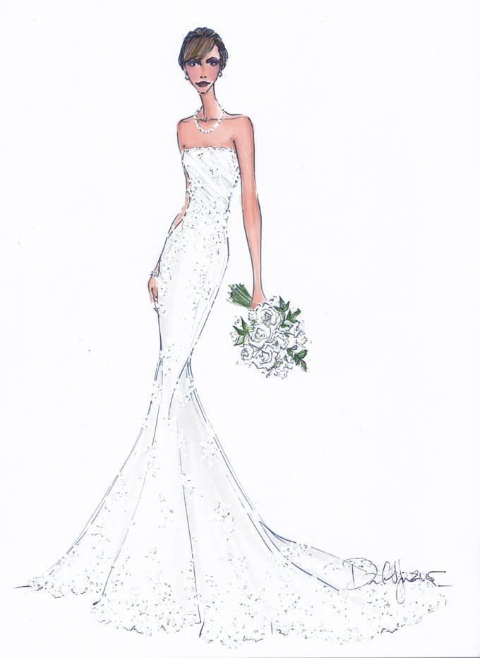 Custom frontals bridal illustration by Illustrative Moments - 028