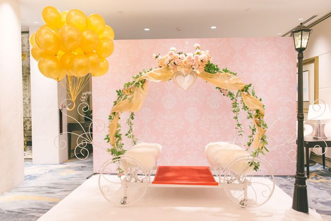 Fairytale Elegant Wedding Day Photography at Shangri-La Hotel by Rosette Designs & Co - 002