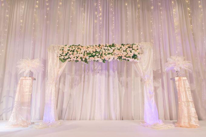 Fairytale Elegant Wedding Day Photography at Shangri-La Hotel by Rosette Designs & Co - 003