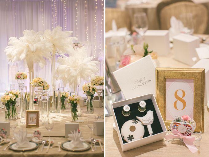 Fairytale Elegant Wedding Day Photography at Shangri-La Hotel by Rosette Designs & Co - 005