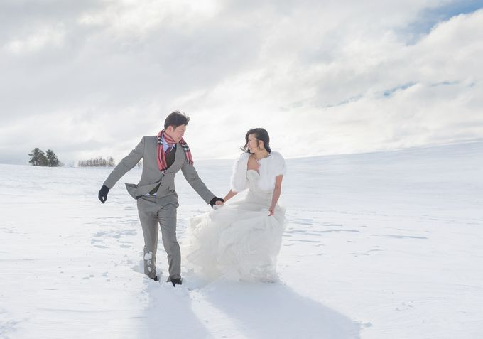 Winter Prewedding Hokkaido, Japan; the Otaru canal,  Niseko slopes by John15 Photography - 001