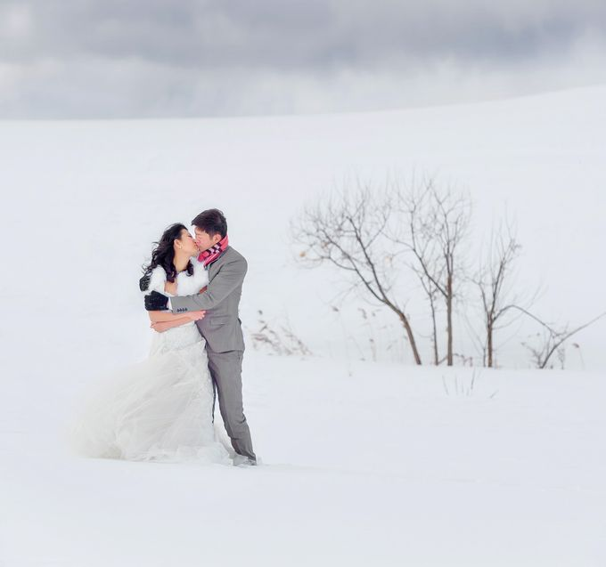 Winter Prewedding Hokkaido, Japan; the Otaru canal,  Niseko slopes by John15 Photography - 002