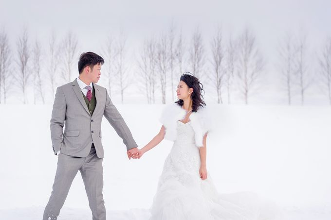 Winter Prewedding Hokkaido, Japan; the Otaru canal,  Niseko slopes by John15 Photography - 003