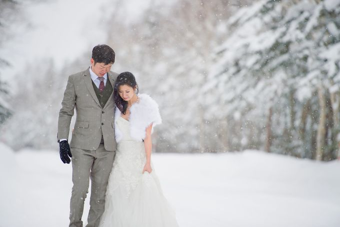 Winter Prewedding Hokkaido, Japan; the Otaru canal,  Niseko slopes by John15 Photography - 004