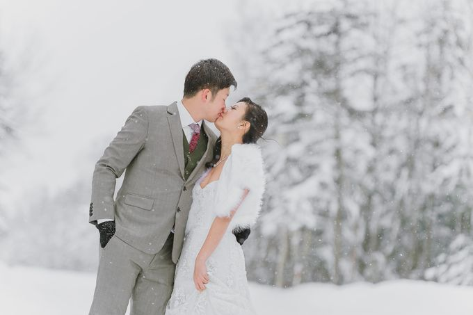 Winter Prewedding Hokkaido, Japan; the Otaru canal,  Niseko slopes by John15 Photography - 005