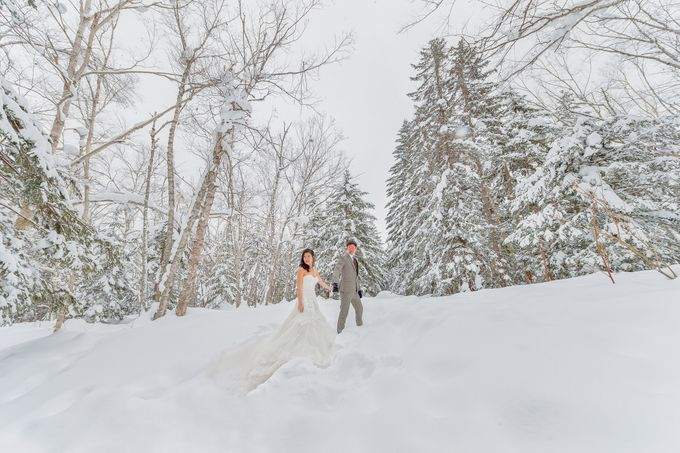 Winter Prewedding Hokkaido, Japan; the Otaru canal,  Niseko slopes by John15 Photography - 006