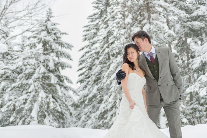 Winter Prewedding Hokkaido, Japan; the Otaru canal,  Niseko slopes by John15 Photography - 007