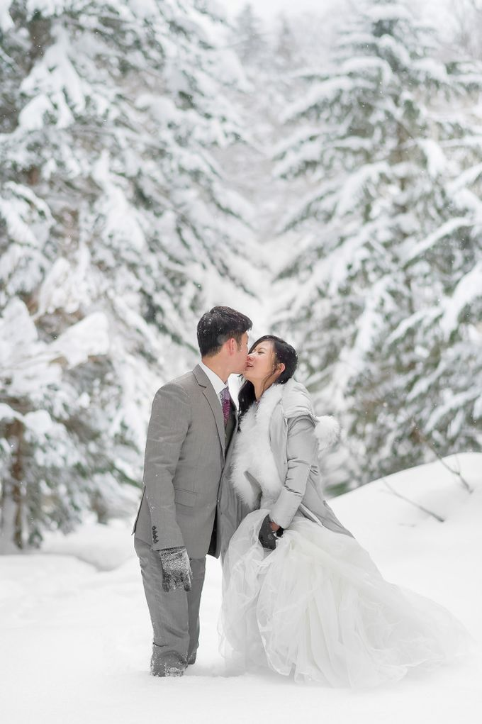 Winter Prewedding Hokkaido, Japan; the Otaru canal,  Niseko slopes by John15 Photography - 009
