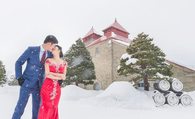 Winter Prewedding Hokkaido, Japan; the Otaru canal,  Niseko slopes by John15 Photography - 011