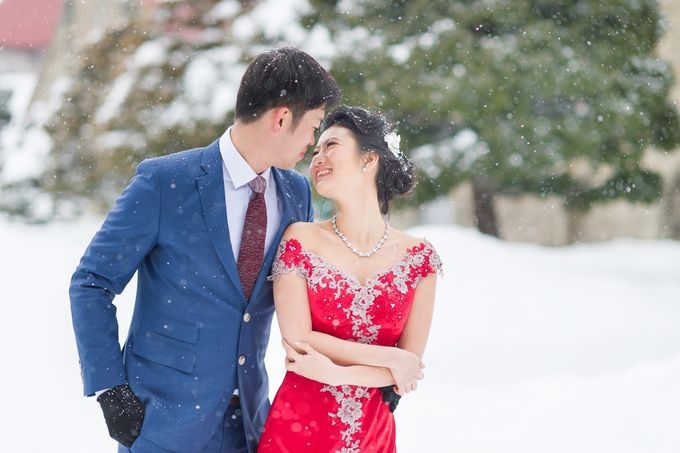 Winter Prewedding Hokkaido, Japan; the Otaru canal,  Niseko slopes by John15 Photography - 012