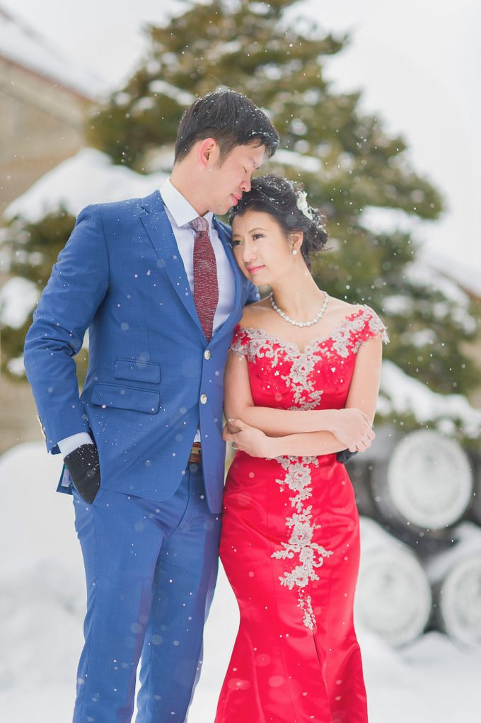 Winter Prewedding Hokkaido, Japan; the Otaru canal,  Niseko slopes by John15 Photography - 013