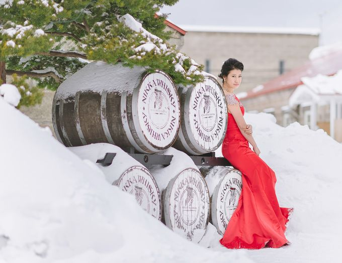Winter Prewedding Hokkaido, Japan; the Otaru canal,  Niseko slopes by John15 Photography - 014