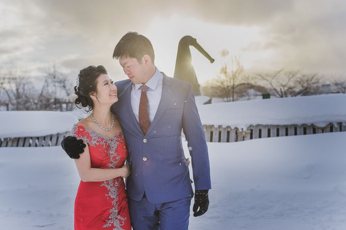 Winter Prewedding Hokkaido, Japan; the Otaru canal,  Niseko slopes by John15 Photography - 015