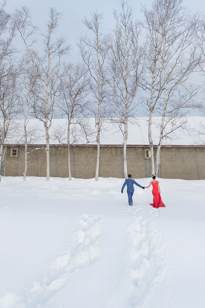 Winter Prewedding Hokkaido, Japan; the Otaru canal,  Niseko slopes by John15 Photography - 016