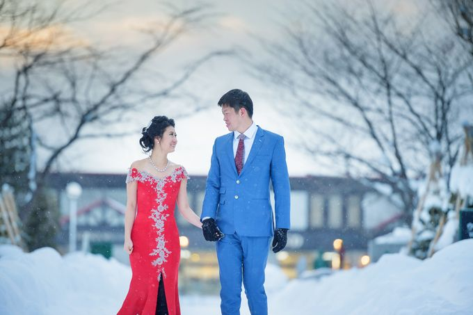 Winter Prewedding Hokkaido, Japan; the Otaru canal,  Niseko slopes by John15 Photography - 018