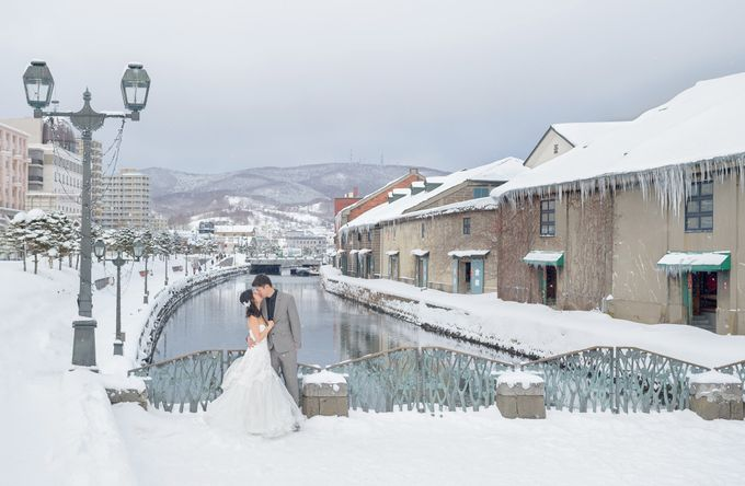 Winter Prewedding Hokkaido, Japan; the Otaru canal,  Niseko slopes by John15 Photography - 020