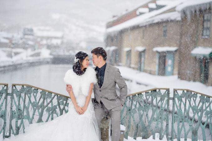 Winter Prewedding Hokkaido, Japan; the Otaru canal,  Niseko slopes by John15 Photography - 021