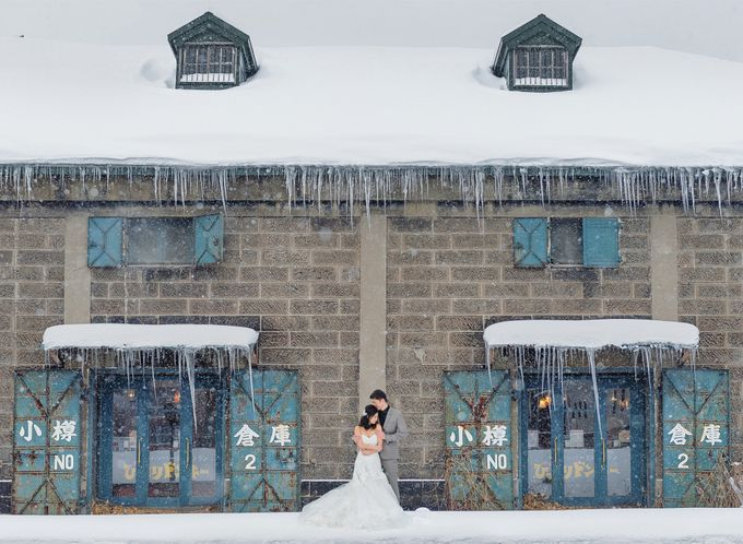 Winter Prewedding Hokkaido, Japan; the Otaru canal,  Niseko slopes by John15 Photography - 022