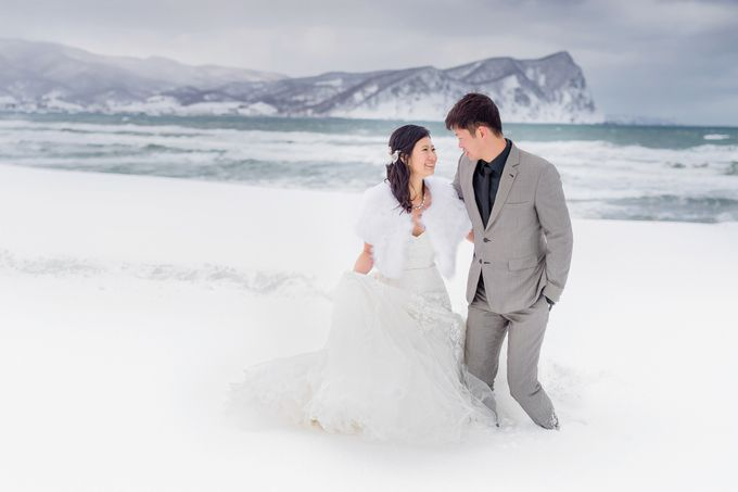 Winter Prewedding Hokkaido, Japan; the Otaru canal,  Niseko slopes by John15 Photography - 023