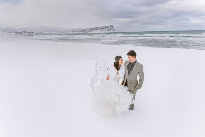 Winter Prewedding Hokkaido, Japan; the Otaru canal,  Niseko slopes by John15 Photography - 024