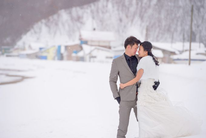 Winter Prewedding Hokkaido, Japan; the Otaru canal,  Niseko slopes by John15 Photography - 025