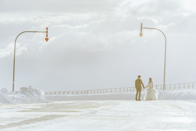 Winter Prewedding Hokkaido, Japan; the Otaru canal,  Niseko slopes by John15 Photography - 027