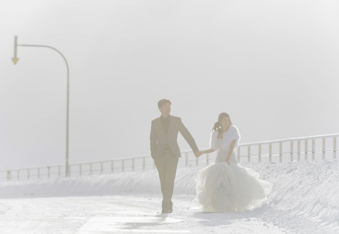 Winter Prewedding Hokkaido, Japan; the Otaru canal,  Niseko slopes by John15 Photography - 028
