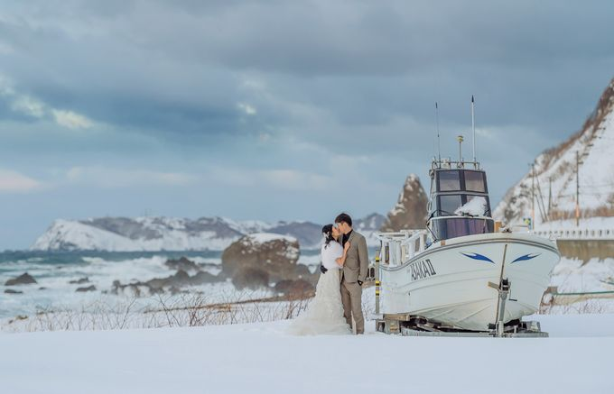 Winter Prewedding Hokkaido, Japan; the Otaru canal,  Niseko slopes by John15 Photography - 030