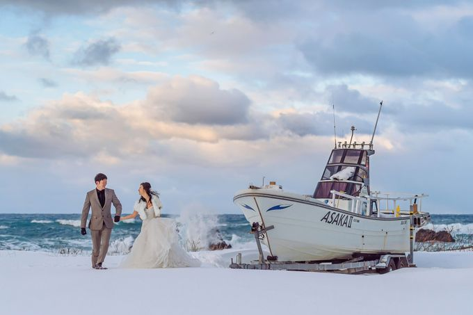 Winter Prewedding Hokkaido, Japan; the Otaru canal,  Niseko slopes by John15 Photography - 031