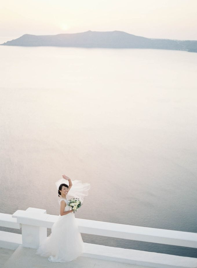 Classic and Beautiful Olive Green and Sea Blue Wedding in Santorini, Greece by Jen Huang Photo - 026