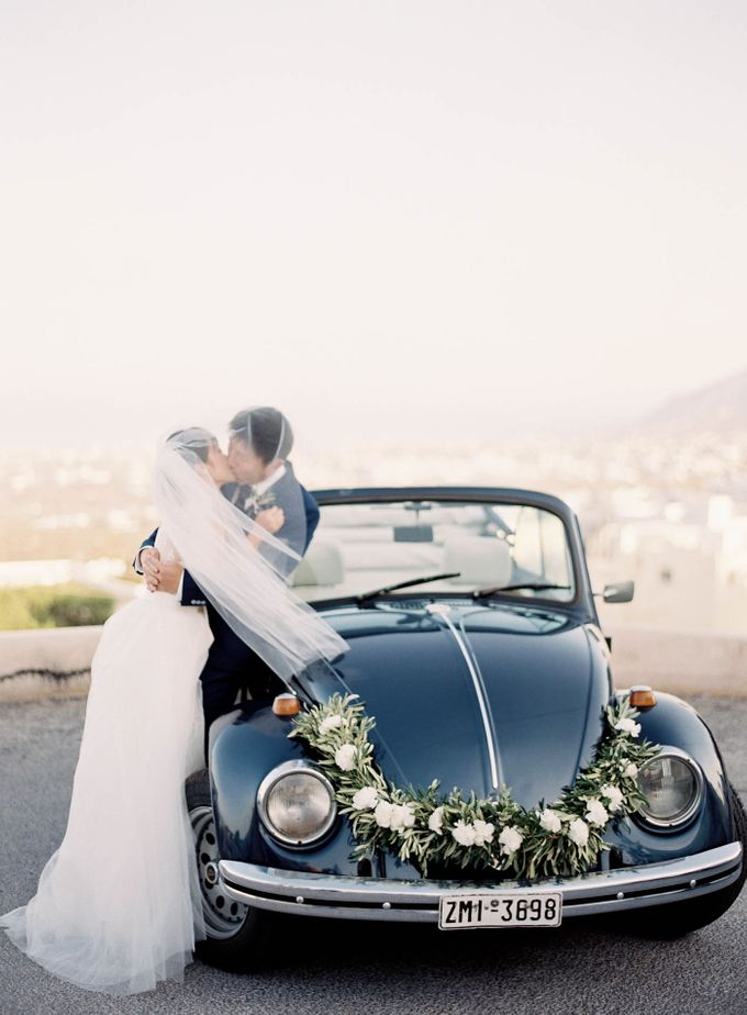 Classic and Beautiful Olive Green and Sea Blue Wedding in Santorini, Greece by Jen Huang Photo - 032