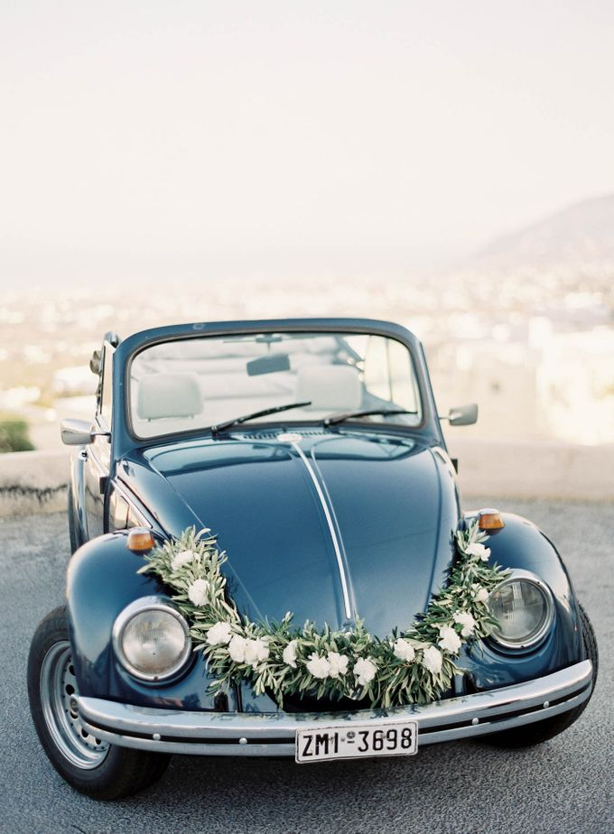 Classic and Beautiful Olive Green and Sea Blue Wedding in Santorini, Greece by Jen Huang Photo - 038