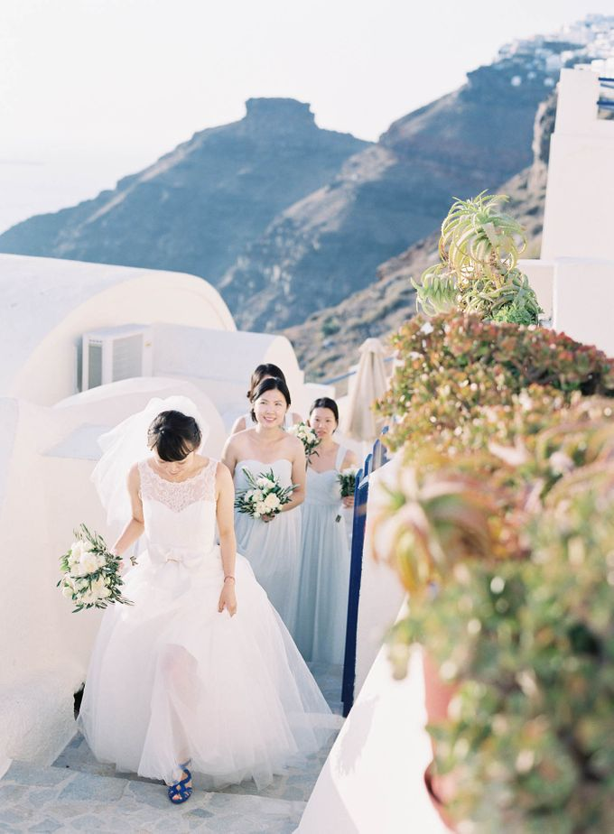 Classic and Beautiful Olive Green and Sea Blue Wedding in Santorini, Greece by Jen Huang Photo - 041