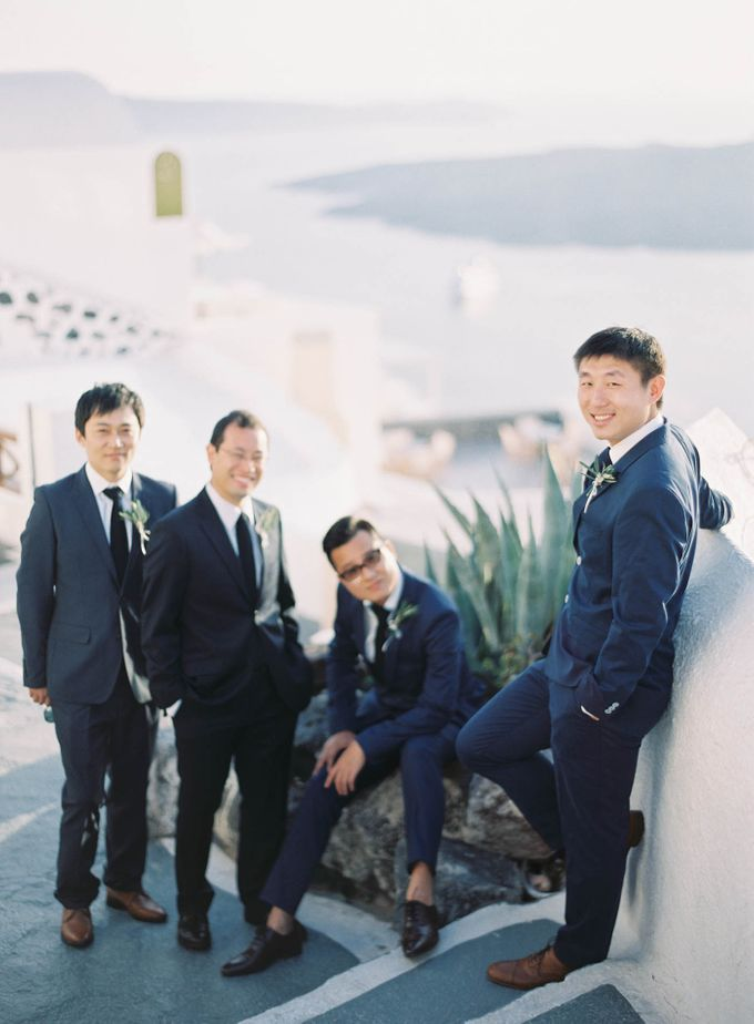 Classic and Beautiful Olive Green and Sea Blue Wedding in Santorini, Greece by Jen Huang Photo - 044