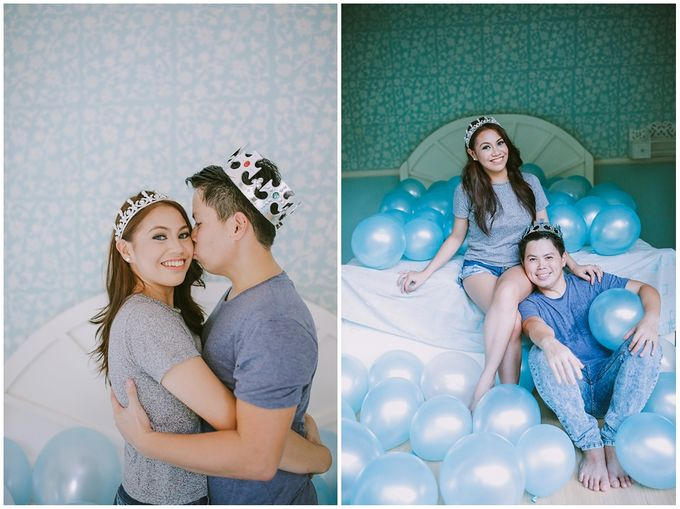 Crowns and balloons  Kraig and Queenie by Shutterfairy Photo - 016