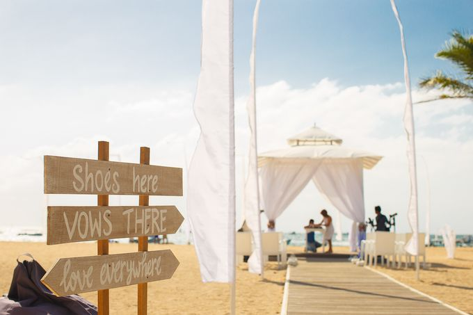 Beach wedding by Bali Angels - 003