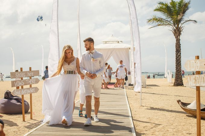 Beach wedding by Bali Angels - 034