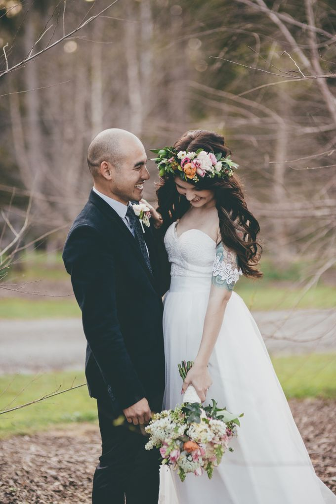 Our amazing garden elopement. by Ginger Lily & Rose Floral Studio - 013