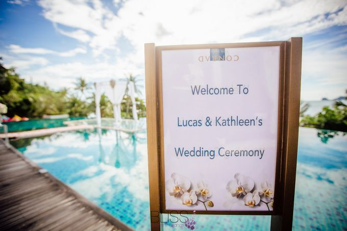 Lucas & Kathleen  Hlightlight photo wedding at conrad samui by BLISS Events & Weddings Thailand - 003