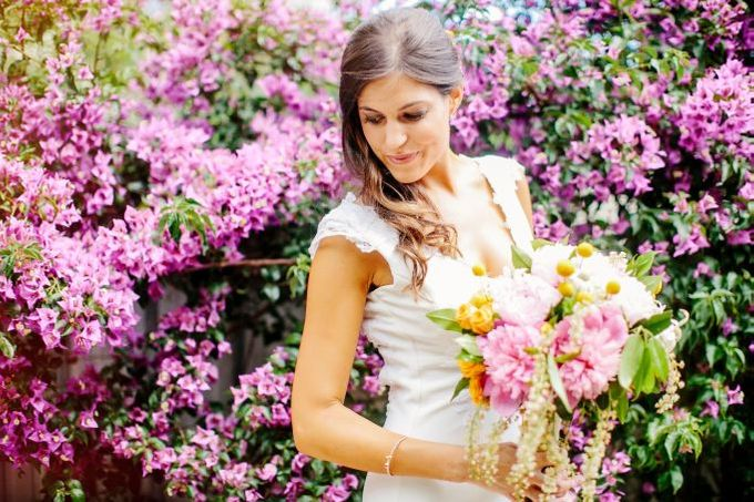 Boho beach wedding by Wild Blossom Flowers - 004