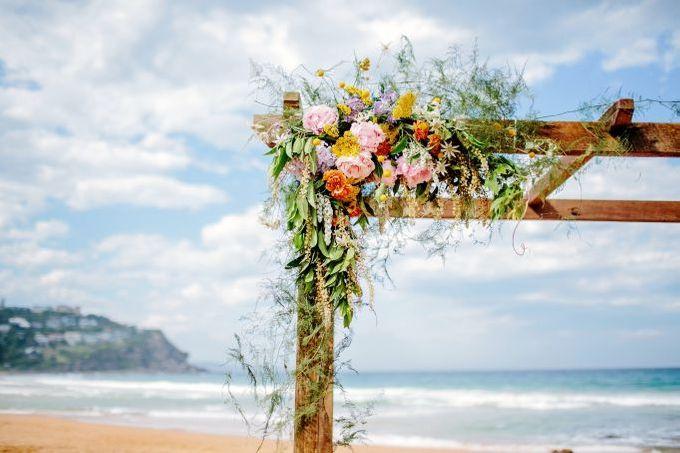 Boho beach wedding by Wild Blossom Flowers - 001