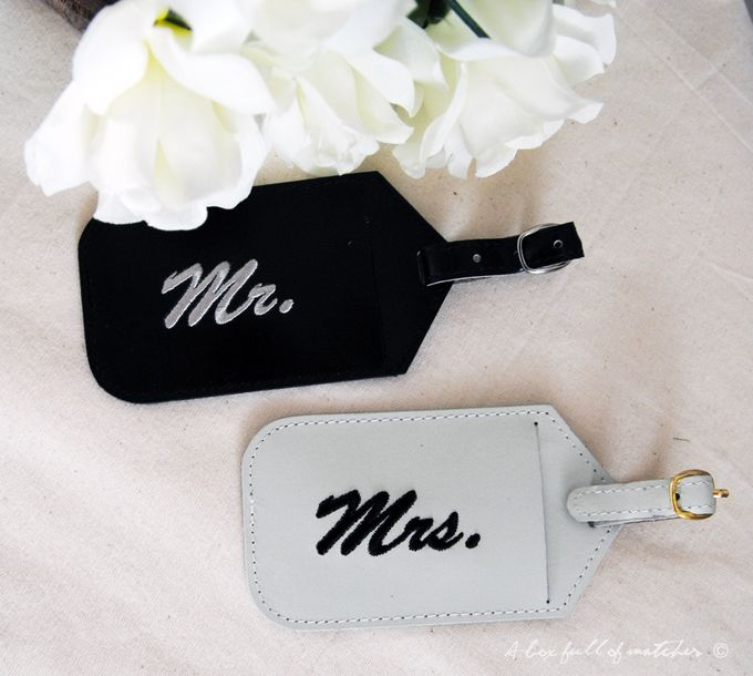 Mr & Mrs Luggage Tag and Passport Cover by A Box Full of Matches - 003