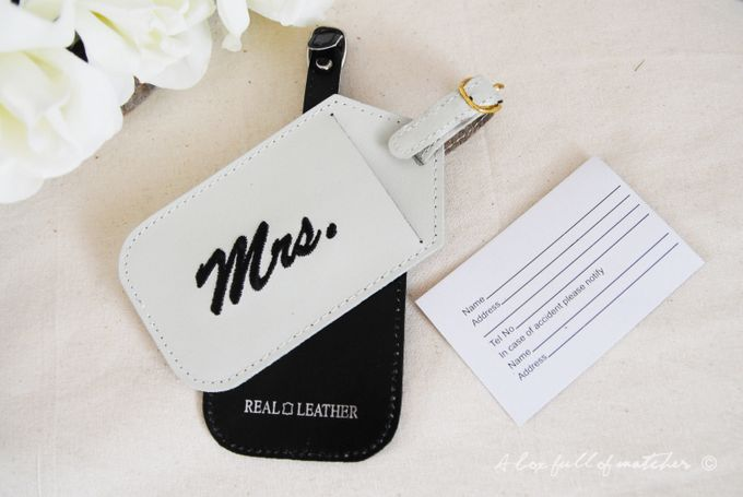 Mr & Mrs Luggage Tag and Passport Cover by A Box Full of Matches - 006