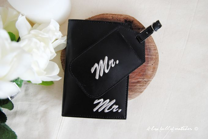 Mr & Mrs Luggage Tag and Passport Cover by A Box Full of Matches - 008